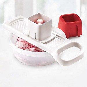 Tupperware Super Chef Mini Mando Branco e Vermelho