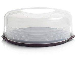 Tupperware Porta Bolo Base Preta Importado