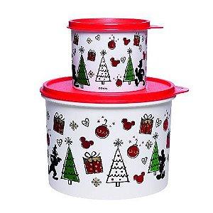 Tupperware Caixa Natal Mickey 2,4 Litros e Redondinha 500ml