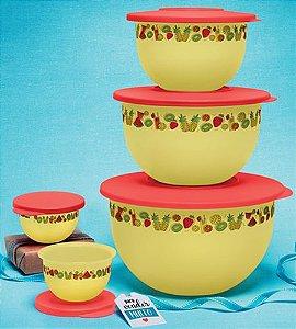 Tupperware Conjunto Tigela Murano Verão 5 Pecas