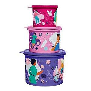 Tupperware Kit Tupper Caixa Mulheres 3 Pecas