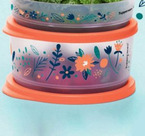 Tupperware Refri Line Redondo 530ml Floral Fresh