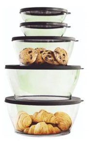 Tupperware Kit Tigelas Clear Policarbonato 5 Pecas