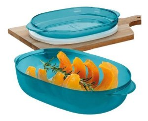 Tupperware Travessa Microplus Oval 1,5 Litros