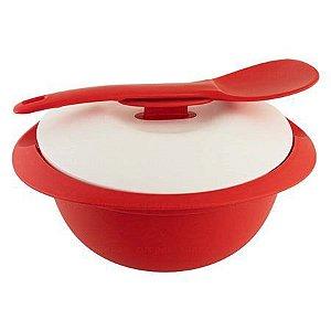 Tupperware Travessa Mágica Redonda 1,6 Litros Vermelha