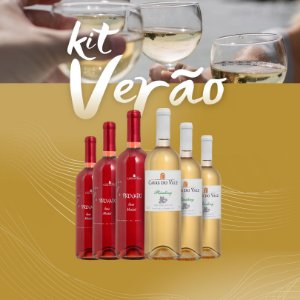 Kit Verão 01 -  3 Rosé Merlot e 3 Riesling