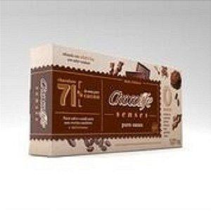 BARRA DE CHOCOLATE ZERO AÇÚCAR AMARGO 1,01KG 71% CACAU CHOCOLIFE SENSES PURO CACAU LINHA FOOD SERVICE