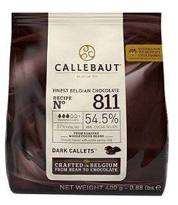 Gotas Chocolate Belga Amargo 400g 811 54,5% - Callebaut