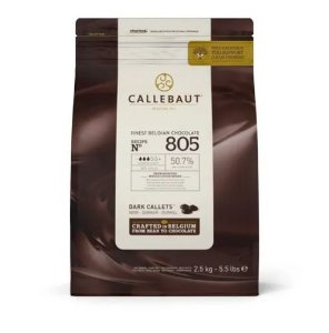 Chocolate Callebaut 50.7% Darkcallets 805 2,5kg