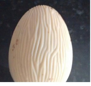 10 Cascas P/ovos De Páscoa Branco 350g com Sicao Branco