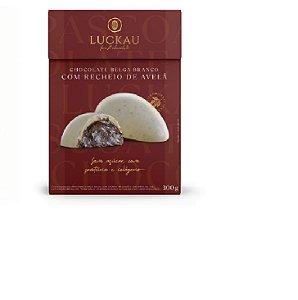 Ovo de Páscoa de Choco Belga Branco com Recheio de Avelã300g