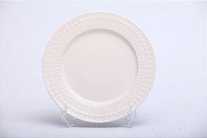 Prato Raso em Porcelana Grace com 6 pçs