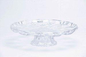 Prato para Bolo Cristal de Chumbo com Pé Louise