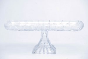 Prato para Bolo Retangular de Cristal de Chumbo Quadratta