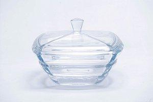 Bomboniere de Cristal Segmentado com Tampa 20,5cm