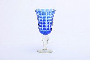 Conjunto de Taças para Vinho Tinto em Vidro Azul 6pçs