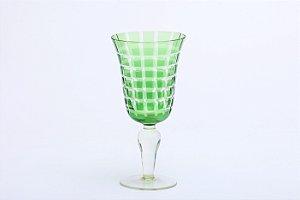 Conjunto de Taças para Vinho Tinto em Vidro Verde 6pçs