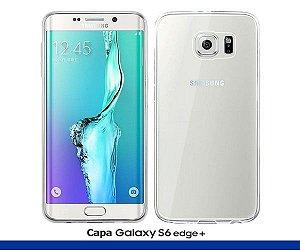 Capa de Silicone Transparente para Galaxy S6 Edge Plus