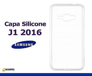Capa de Silicone Transparente para Galaxy J1 2016