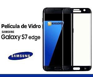 Película de Vidro para Galaxy S7 Edge - Cobre toda lente.