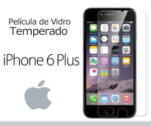 Película de Vidro para iPhone 6 Plus.