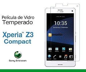 Película de Vidro para Xperia Z3 Compact.