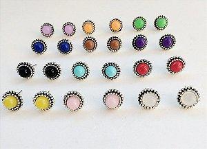 PACK 4 - 12 pares de brincos inspired, R$ 2,60 cada, cores sortidas