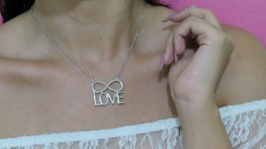 Correntinha amor infinito, prateada