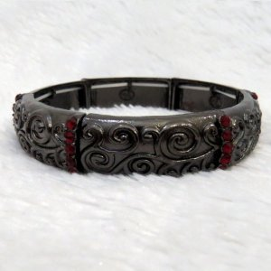 Pulseira bracelete, arabesco, cinza chumbo, hot