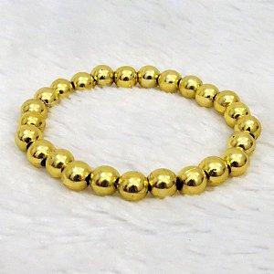 Pulseira de bolinhas, dourada - REF P034