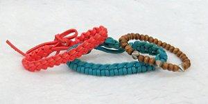 Conjunto de pulseiras aloha, 3 peças, I - REF P037