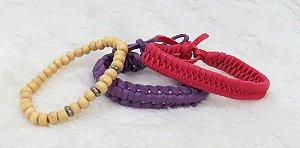 Conjunto de pulseiras aloha, 3 peças, III - REF P039