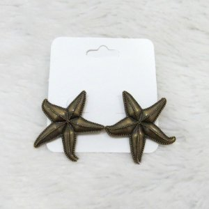 Brinco estrela do mar, bronze