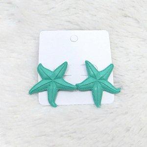 Brinco estrela do mar, verde agua
