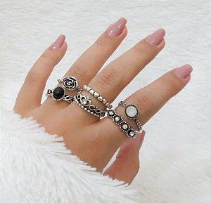 KIT Madame, conjunto de anéis com 6 peças, R$ 2,81 cada