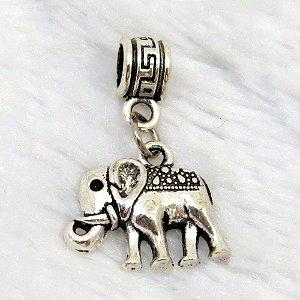 Berloque pingente, elefante, prateado