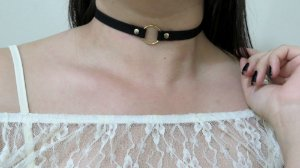 Choker KIM black, regulável