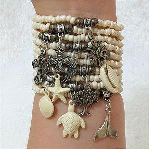 Conjunto de pulseiras dream, 10 peças, alto mar - REF P099