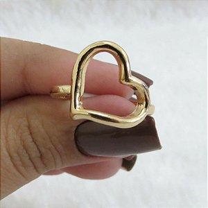 Anel New Collection, Coração, Dourado - REF A054