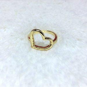 Anel new collection, coração, dourado