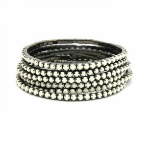 Conjunto de pulseiras star, 5 peças, off white#