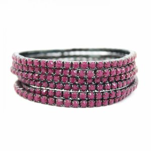 Conjunto de pulseiras star, 5 peças, marsala#