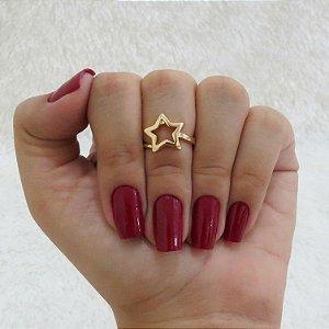 Anel de falange, stars, dourado - REF: F032