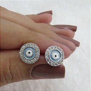 Brinco new collection, olho grego azul - REF B223