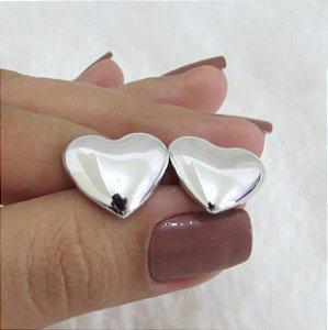 Brinco New Collection , coração prateado médio - YH8WX7NTQ