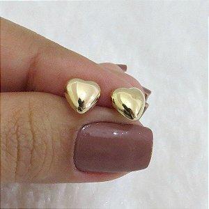 Brinco New Collection , coração dourado pequeno - TSN42CDJQ