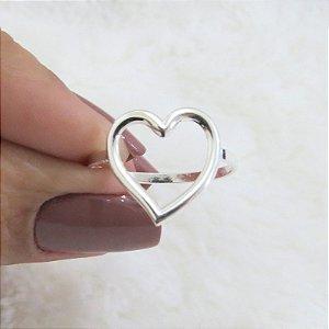 Anel New Collection, coração, prateado - REF A273