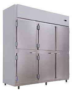Geladeira Refrigerador Comercial Inox 6 Portas Klima