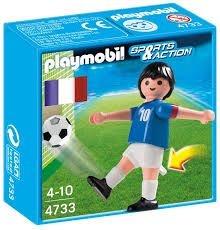 4733 PLAYMOBIL ESPORTES  JOGADOR DE FUTEBOL FRANÇA