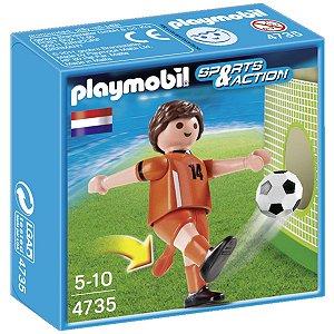 4735 PLAYMOBIL ESPORTES  JOGADOR DE FUTEBOL HOLANDA